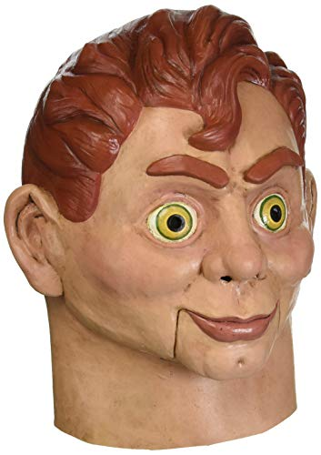 Loftus International Goosebumps Slappy The Dummy Full Head Mask Beige Red One-Size Novelty Item -