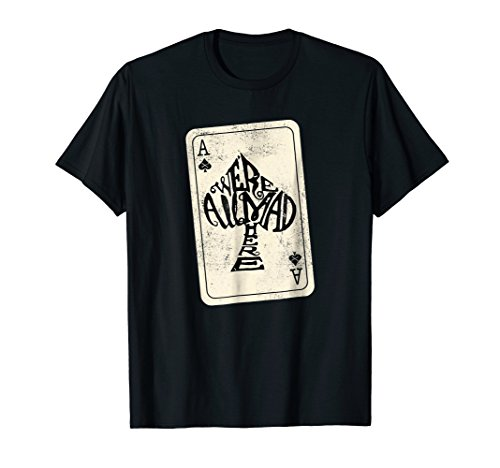 Ace of Spades Were All Mad Here Alice In Wonderland T-Shirt