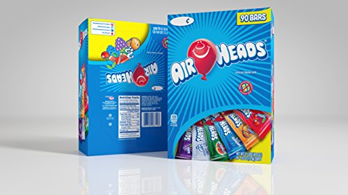 Airheads Chewy Fruit Candy, stocking stuffer, Variety Pack, 90 Count 3.1lbs