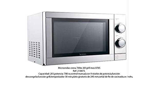 Crena Microondas, Acero Inoxidable, 44 x 36 x 25,8 cm.: Amazon.es ...