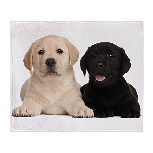 Puppies Fleece Blanket (CafePress - Labrador Puppies - Soft Fleece Throw Blanket, 50
