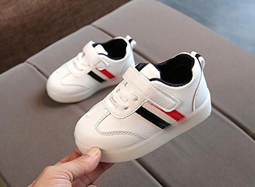 Prevently Kinder Turnschuhe LED-Leuchten Schuhe Jungen Sportschuhe Sneaker Outdoor Hallenschuhe Laufschuhe Kleinkind Laufende Turnschuhe Sneakers Laufen Schuhe Sportschuhe Schwarz