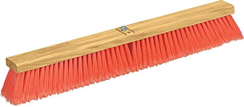 Carlisle 3610222424 Flo-Pac Juno Style Hardwood Block Sweep, Polypropylene Bristles, 24'' Length, Orange by Carlisle (Image #2)