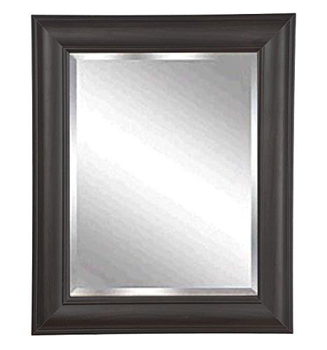 American Made Rayne Dark Brazilian Walnut Beveled Wall Mirror, 21 x 25