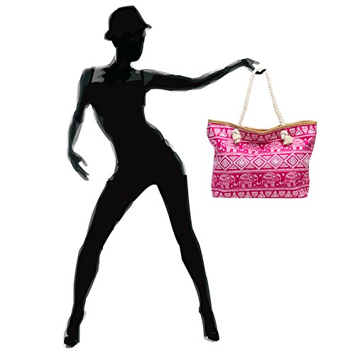 Beach TS1042 Pattern Women Bag XXL Pink Exotic with Bag Large Shopper CASPAR Elephant 4ZqTdxYwq
