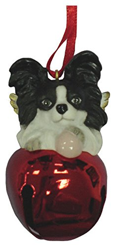 StealStreet-SS-D-BL017-B-Cute-Christmas-Holiday-Black-Papillon-Ornament-Bell-Figurine-Red
