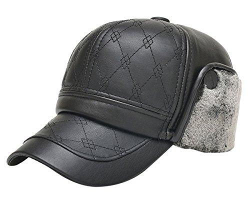 Feoya Winter Leather Baseball Fleece 8eab37133251