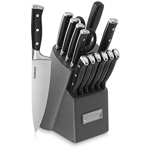 Cuisinart C77TR-15PB Triple Rivet Block Set, 15-Piece, Gray