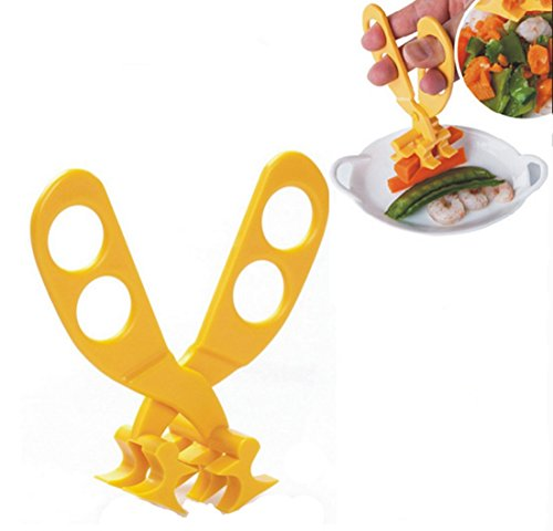 - SweetyYake Baby Food Scissor Healthy and Safety Portable ABS Masher Chopper Cutter with Travel Storage Case Nestling Feeding Kit (Yellow)