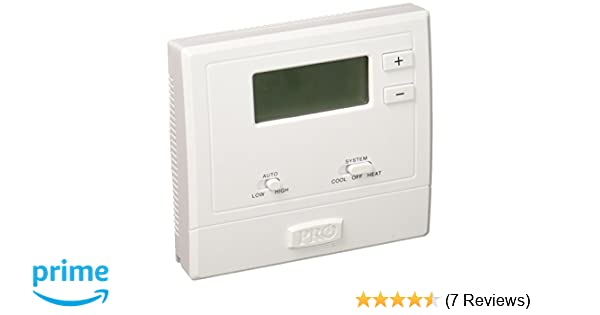 PRO1 IAQ T631W-2 Touchscreen Non-Programmable Electronic Thermostat - Nonprogrammable Household Thermostats - Amazon.com