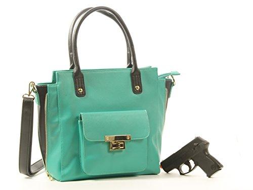 Goson Concealment Gun Purse Cross Body Tote Bag Mint