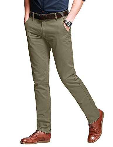 (Match Men's Slim Fit Tapered Stretchy Casual Pants (36W x 31L, 8050 Light Khaki#10))