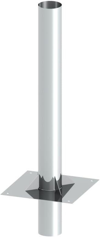 Schornsteinverl/ängerung Kaminverl/ängerung doppelwandig DW 140 H/öhe 0,5 m 0,5 mm