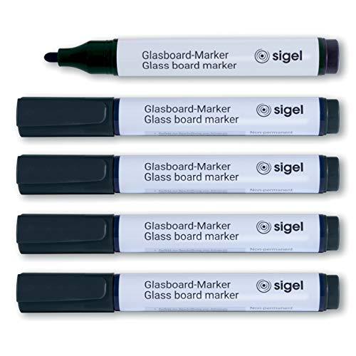 Amazon.com: Sigel Pack de 5 rotuladores para vidrio o ...