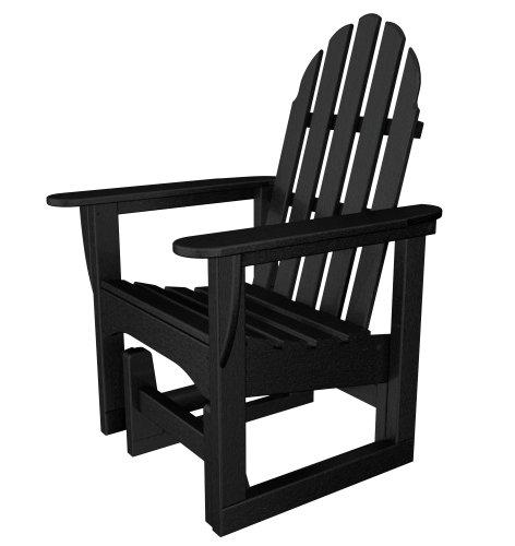 Glider Chair Polywood Adirondack (POLYWOOD ADSGL-1BL Classic Adirondack Glider Chair, Black)