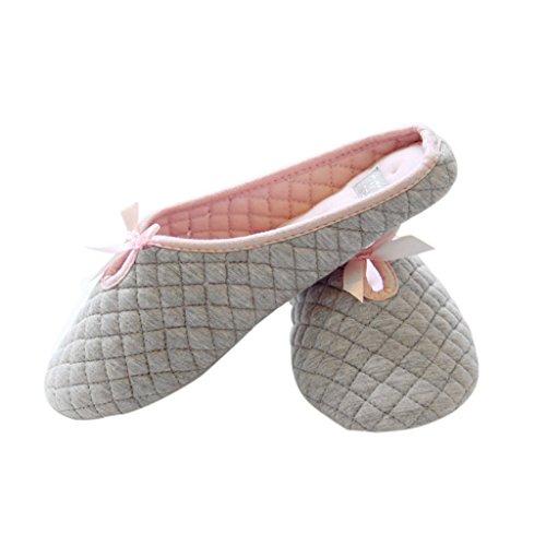 Fortuning's JDS Unisexo Adultos Pareja acogedor Lana Casa Calzado ovejas encantadoras Confortable Zapatillas Gris