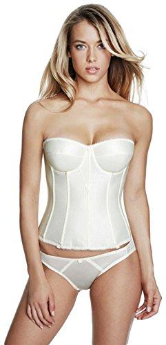 54172367968d0 Dominique Satin Torsolette Bridal Bustier Style 8950