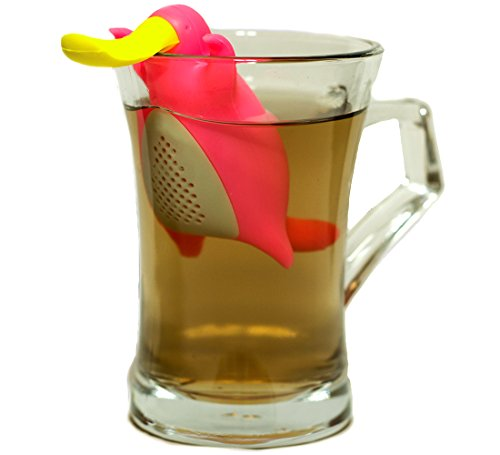 Happy Platypus Couple Tea Infusers- Funny Loose Leaf Tea Infuser, Strainer-Deep Tea Mug/ Cup Infuser- Great For Herbal Tea Or Mulling Spices-Top Quality Food Grade Silicone- Great Tea Gift Set Idea by Creatorstudio (Image #3)