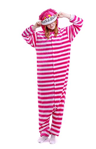 FashionOutlets Adult Unisex Hooded Flannel Animal Onesie Pajamas Zipper Sleepsuit Cosplay Costume Sleepwear, S