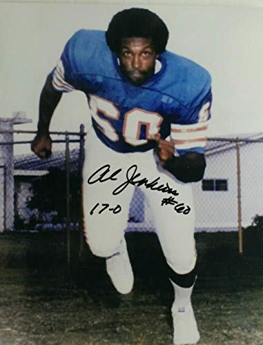 Al Jenkins Miami Dolphins 1972 UNDEAFTED TEAM Tulsa Autograph Signed 8x10 Photo ()