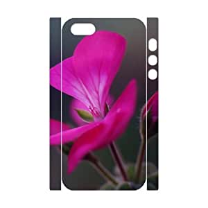 3D Stevebrown5v Geranium Flower Buds Case For Sam Sung Galaxy S4 I9500 Cover Cases Protective for Girls, Case For Sam Sung Galaxy S4 I9500 Cover [White]