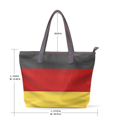 Germany Flag Women's Fashion Large Tote Shoulder Bag Ladies Handbag