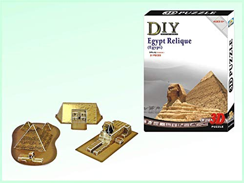 Ancient Egypt Sites, Sphinx, Pyramid and Pharaoh King Tut Tomb Kit 3 D Model - Ancient Puzzles Egypt