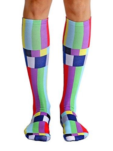 Living Royal TV Warning Knee High Socks with a Helicase Brand Sock Ring