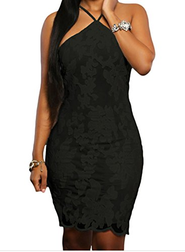 YFFaye Black Lace Floral Luxe Party Dress L (Silicon Mix Wholesale compare prices)