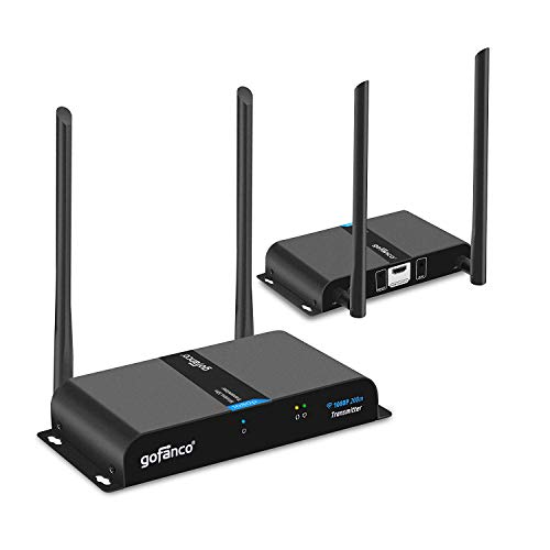 gofanco 660ft 1080p Wireless HDMI Extender Kit - Dual Antenna - 660 feet (200m) - IR remote control - Fully compliant with HDMI and HDCP standards
