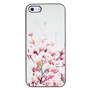 comprar Estilo Peach Blossom caso del patrón de la PC dura fresca con Marco Negro para iPhone 5/5S