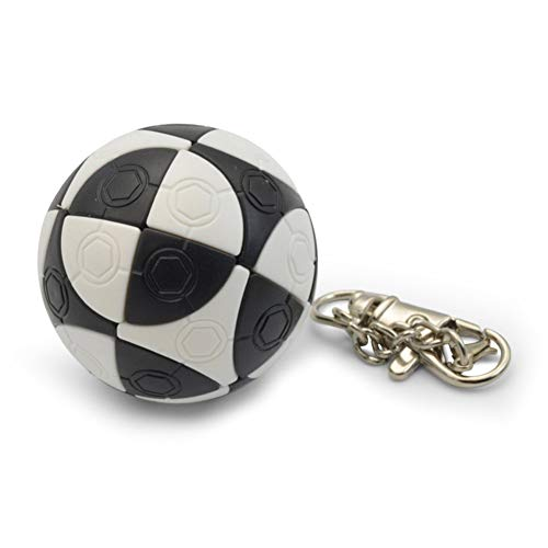 Aoile Mini Football Shape Keychain Magic Cube Educational Toy Kids Stress Reliver Prop ()