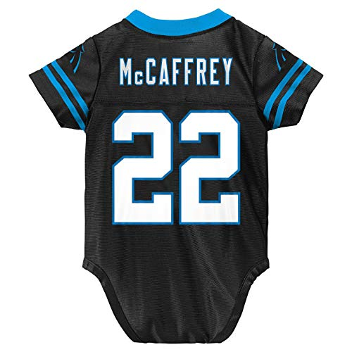 Outerstuff Christian McCaffrey Carolina Panthers #22 Black Newborn Home Player Creeper Jersey (3/6 Months)