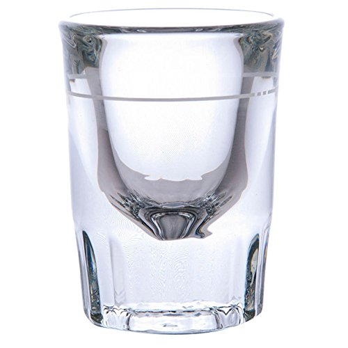 Libbey 5126/A0007 Fluted Whiskey / Shot Glass 2 oz with 1 oz Capacity Line, SET of 6 w/Bonus FDL Picks]()
