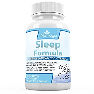 100% Natural Sleeping Pills - Pure and Potent Sleep Aid Supplements for Men & Women, Made in USA (FDA Registered Facility) - 60 Capsules