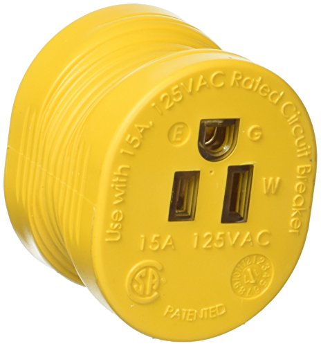 Camco PowerGrip Durable Electrical Adapter - Easy Grip for Simple and Safe Use, 30 AMP Male 15 AMP Female (55233) (Adapter Rv Cord)