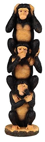 GSC StealStreet Black And Brown Monkey Hear, See, Speak N...