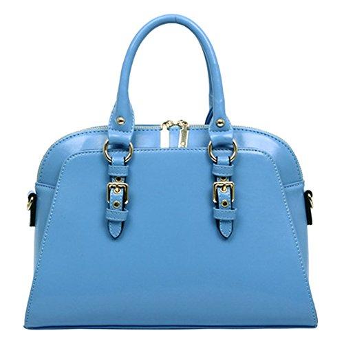 VonFon Bag Work Place Simple Sweet Lady Shoulder Handbags Blue