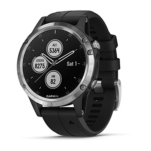 Garmin 010-01988-10 Fenix 5 Plus Bisel con Correa, Color Negro