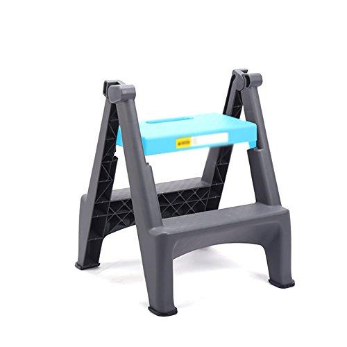 LQQFF Taburete Plegable casero de la Escalera, Escalera Que se Lava Profesional del Coche de Dos Pasos, Pedal plástico...