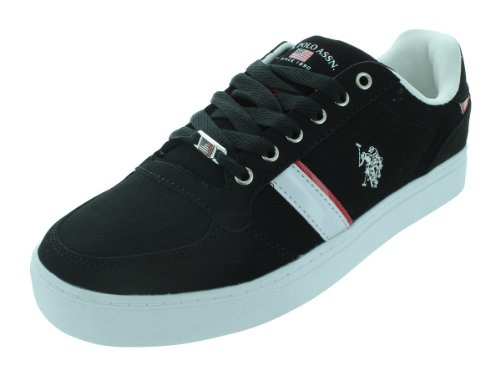 U.S. POLO ASSN. EVAN CASUAL SHOES Black/White/Red P4v60Ucd