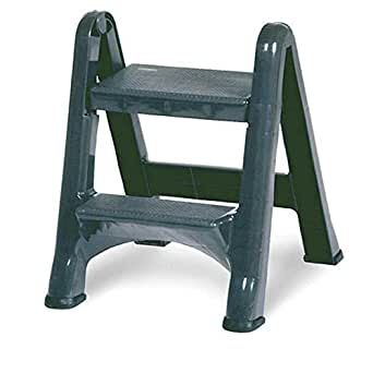 Pleasant Rubbermaid Commercial 4209 Ez Step Folding Stool 2 Step Gray Creativecarmelina Interior Chair Design Creativecarmelinacom
