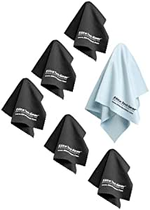 Elite Tech Gear Most Amazing Microfiber Cleaning Cloths (6 Pack) Perfect for Cleaning Eyeglasses, LCD Screens, Tablets and Other Delicate Surfaces (5 Large 6x7inch and 1 Oversized 12x12inch)