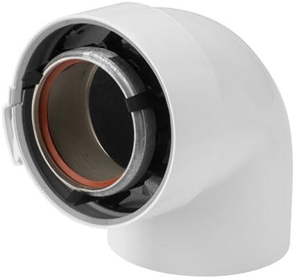 Coude 87/° 80//125 aluminium et PVC Rolux R/éf 228521