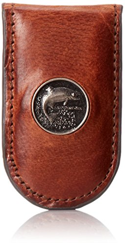 (Weber's Leathers Men's Caramel Brown Money Clip with Trout Concho, Caramel Brown, One)