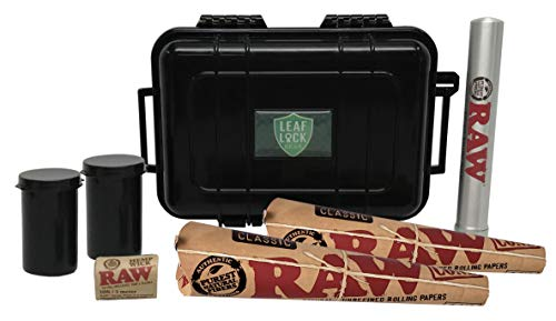RAW Pre Rolled Cone 1 1/4 (2 Pack), Hemp Wick, Metal Cigar Tube, Pop Top Sotrage, with Leaf Lock Gear Travel Case - 7 Item Bundle by Rolling Paper Depot (Image #6)