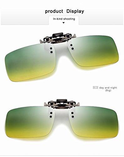 Clip de Jour Shishanyun Soleil TAC Conduite Date Polarized Green Dark sur Vision UV400 Myopie Lunettes Lunettes Nuit Lunettes Hommes Lunettes Nuit rq1qTzI