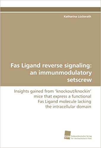 Fas Ligand reverse signaling: an immunmodulatory setscrew: Insights gained from ?knockout/knockin' mice that express a functional Fas Ligand molecule lacking the intracellular domain