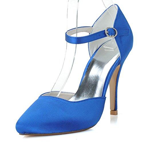 High 27 Femmes Boucle De Haut Mariage Custom Mariage Gamme Elegant high shoes De 0255 Comfort Heels Chaussures Platform De blue Round wcIxTqCf