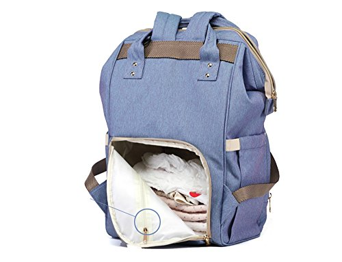 Bolso coreano de la momia de la manera, bolso de hombro, bolso de múltiples funciones de la madre de gran capacidad, vaya el morral, bolso del bebé de la madre ( Color : Pink ) Rojo